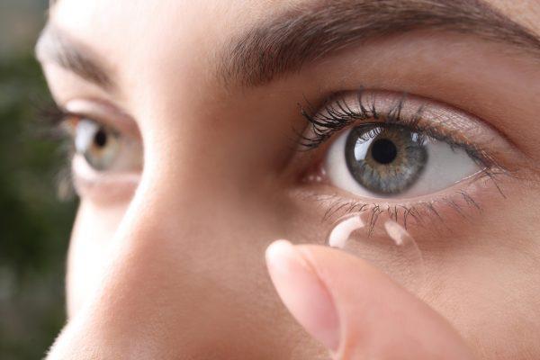 utilização das lentes de contato